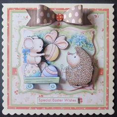 EASTER EGG WAGON Easter 8x8 Mini Kit Decoupage on Craftsuprint designed by Janet Briggs - made by Davina Rundle