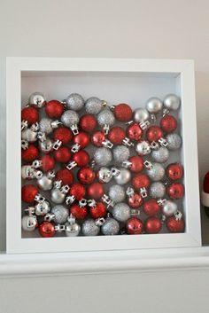 #ikea RIBBA frame: Christmas shadow box
