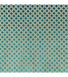 Upholstery Fabric- Robert Allen Velvet Geo / Turquoise