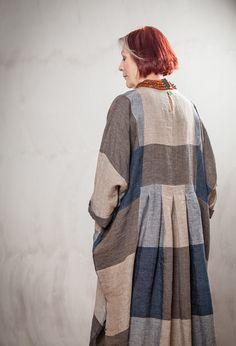New Baggy Dress in linen £280.
