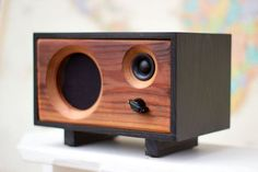 Wood Desk Speaker || Reclaimed Wood Wireless Bluetooth Speaker || Fawn Speaker | Ebony & Redwood: