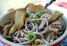 Garlic Sesame Soba Noodles. High in protein, fiber, and essential amino acids makes this one of our staple dishes.