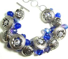 Hollywood Glam Flower Bracelet Design by flirtyfashionjewelry