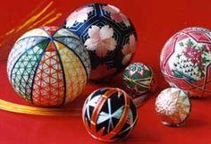 Japanese beautiful temari ball