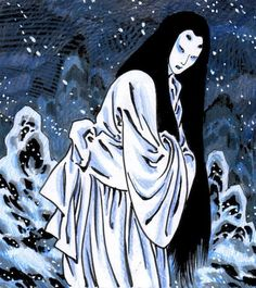 A Heart as Cold as Ice? The Japanese Legend of Yuki-onna, the Beautiful Yet Dangerous Snow Woman Yuki Onna, Japanese Yokai, Japanese Art, Japanese Legends, Death Art, Japanese Horror, Japanese Mythology, Horror Art, Urban Legends