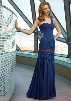 Elegante Abendkleider 2013 A/Linie aus Chiffon Einschulter online