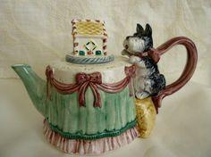Scottie Dog Teapot Fitz and Floyd OCI Omnibus 1993 by classy10