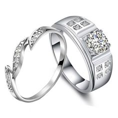Personalized 1 Carat Diamond Couples Anniversary Gold Rings Gullei.com ✿ ☺ ✿. ☺