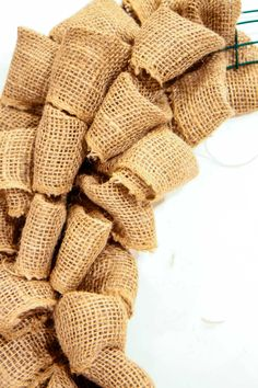 The Easiest DIY Burlap Wreath You Will Ever Make from MomAdvice.com. Step-by-step video instructions