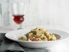 Pearled Barley Risotto with Peas, Pancetta, and Sun-Dried Tomatoes http://www.prevention.com/food/healthy-recipes/31-healing-recipes-you-cant-live-without/sweet-corn-frittata