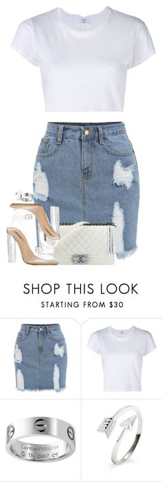 """Untitled #1191"" by lovetaytay ❤ liked on Polyvore featuring RE/DONE, Chanel and adidas"