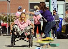 Wheelchair relay event raises awareness about living with spinal injuries
