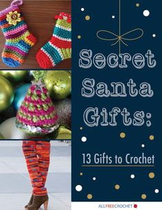 With the Christmas season quickly approaching it's only appropriate to start thinking about all the wonderful gifts to crochet. From those special gifts, to the fun secret Santa gifts there are gifts to crochet that can be worked up quickly.