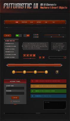 Futuristic UI 2.0 by VengeanceMK1.deviantart.com on @DeviantArt