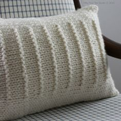 Ravelry: Fine Lines Pillow pattern by Fifty Four Ten Studio