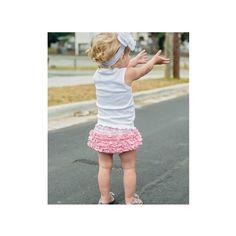 Pink Striped Knit RuffleButt★#rufflebutts #bloomer #ブルマー #フリル #ラッフルバッツ