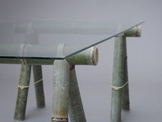 Soba: bamboo furniture by Stefan Diez for Japan Creative Bamboo Table, Bamboo Art, Bamboo House, Bamboo Ideas, Bamboo Furniture, Luxury Furniture, Furniture Ads, Street Furniture, Folding Furniture
