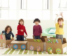 DIY Play - Build a train - need 1 box each to decorate, teaches patience and teamwork. The train gets out together when everyone is finished making their carriage (Good Behavior Games for Preschoolers) Preschool Games, Toddler Preschool, Craft Activities, Toddler Play, Daily Activities, Preschool Learning, Indoor Activities, Activity Ideas, Kindergarten Activities