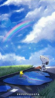 Snoopy and Woodstock loving a beautiful day. Gifs Snoopy, Snoopy Images, Snoopy Pictures, Snoopy Quotes, Tier Wallpaper, Snoopy Wallpaper, Disney Wallpaper, Cartoon Wallpaper, Iphone Wallpaper