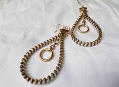 Zipper Hoop Earrings by KariMcMurphy on Etsy $20