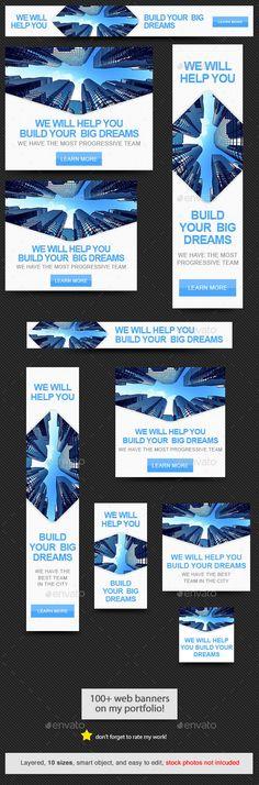 Dream Builder Web Banner Template   Download: http://graphicriver.net/item/dream-builder-web-banner/11058510?ref=ksioks