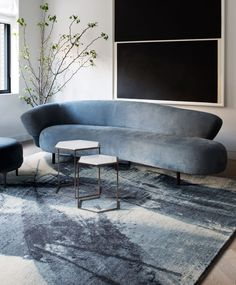 """1,226 Likes, 11 Comments - The Rug Company (@therugcompany) on Instagram: """"Abstract brushstrokes: a rug which expresses movement, Lola by @rockwellgroup is handknotted in…"""""""