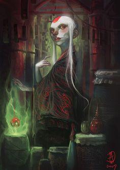 Hot Concept Art by Manuel Augusto Moura Fantasy World, Dark Fantasy, Fantasy Art, Illustrations, Illustration Art, Dragons, Character Art, Character Design, Fiction