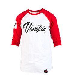 VAMPIRE LIFE MENS UP ALL NIGHT VAMPIN TEE White
