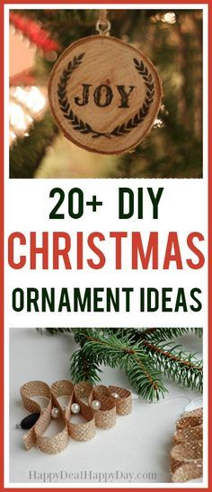 20+ DIY Christmas Ornament Ideas!  Easy christmas ornament ideas ranging from frees, rusting, clear bulbs and paper ornaments. #DIYchristmasornaments #easyornaments #diyornaments #diytreeornaments #diyrusticornaments #essentialoilornaments