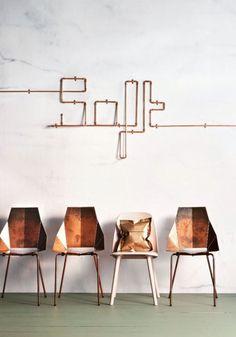 El cobre permite crear formas originales gracias a la maleabilidad que se presenta en un su forma la que permite explorar posibilidades de diseño