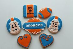 football cookies ( love the faces )