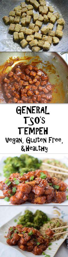 General Tso's Tempeh - A vegan amd healthy version of a classic dish