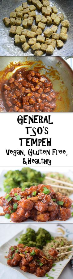 General Tso's Tempeh - A vegan amd healthy version of a classic dish