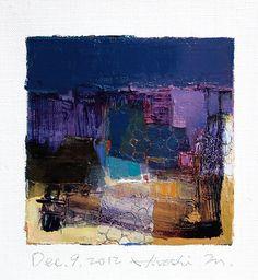 Dec 9 2012 Original Abstract Oil Painting by hiroshimatsumoto, $60.00