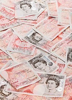 Picture of 50 pound sterling bank notes closeup view business background stock photo, images and stock photography. Pound Money, Pound Sterling, Money Pictures, Money Affirmations, Future Goals, Birthday Wishlist, Law Of Attraction, Close Up, Cover
