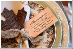 Thanksgiving prayer for the table