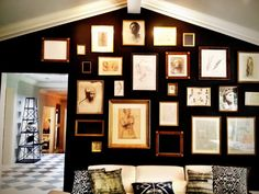 Black gallery wall