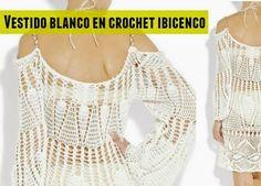 Patrones Crochet: Vestido blanco ibicenco patron