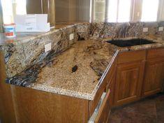 Granite Kitchen Countertops Tile Installation — Reddish Home Ideas Marble Countertops Bathroom, Granite Countertops Colors, Granite Kitchen, Kitchen Tiles, Kitchen Countertops, Laminate Countertops, Kitchen Design, Kitchen Cabinets Decor, Kitchen Cupboard