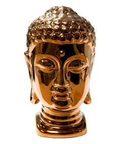 Look at this Sagebrook Home Bronze Buddha Head Ceramic Statue on #zulily today!