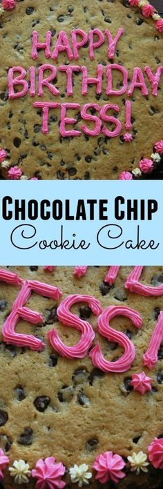 Homemade Chocolate Chip Cookie Cake - just like the ones you get at the mall!