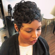 Buy this high quality wigs for black women lace front wigs human hair wigs african american wigs the same as the hairstyles in picture - October 26 2019 at Stylish Short Hair, Short Sassy Hair, Short Hair Wigs, Short Pixie, Curly Pixie, Blonde Pixie, Straight Hair, Curly Hair Styles, Natural Hair Styles