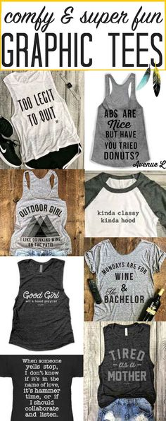 LOVING all these fun womens graphic tees! So many I hadn't seen before. Popular casual fashion & great gift ideas!!!