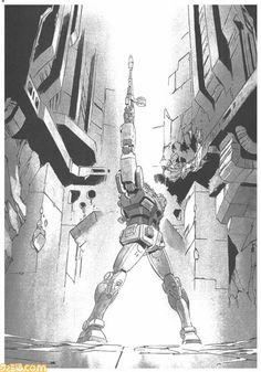 「THE ORIGIN」漫画原画 GUNDAM PRODUCT ART 機動戦士ガンダム THE ORIGIN展