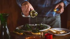 View Stock Photo of Man Pouring Olive Oil Over Tuscan Bruschetta And Cavolo Nero. Find premium, high-resolution photos at Getty Images. Bruschetta, Olive Oil Benefits, Best Cooking Oil, Slow Food, Toscana, Fabulous Foods, Restaurant Recipes, Healthy Fats, Healthy Dishes