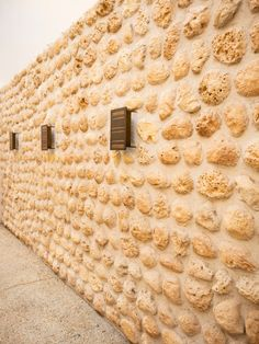 Thick coral stone walls are said to be good insulators to keep the heat out, creating airy rooms during the summer in the olden days. Now, they are conserved and part of Al Bait Sharjah. Airy Rooms, Coral Stone, Five Star Hotel, Stone Walls, Sharjah, Bait, Design Elements, Architecture, Summer