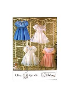 Simplicity 9579 Oliver Goodin Toddler Special Occasion, Flower Girl Dresses with Short Sleeves, U/C, F/Folded, Sewing Pattern All Sizes Short Dresses, Girls Dresses, Flower Girl Dresses, Prom Dresses, Formal Dresses, Heirloom Sewing, Sewing Techniques, Sash, Bodice