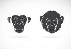 Vector image of monkey face by yod67 on @creativemarket