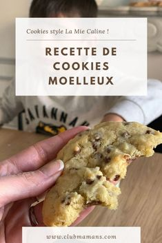 Food And Drink 752945631440040670 - recette cookies moelleux la mie caline Source by halim_fatine No Sugar Desserts, No Cook Desserts, Cookie Desserts, Easy Desserts, Cookie Recipes, French Desserts, Chef Recipes, Mexican Dessert Recipes, Cookies Et Biscuits