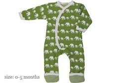 leuk eco pyjamaatje met olifant silhouet in 1 kleur